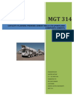 Capacity Planning-Operations Management Report
