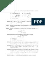 Ejercicios de Calculo Diferencial en Una Variable