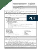 Abdomenal Exam Handout