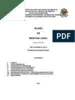 Silabo Medicina Legal 2012