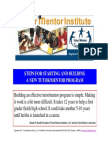 Steps to Start a Volunteer-Based Tutor/Mentor Program