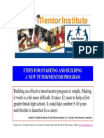 Steps to Start a Volunteer-Based Tutor/Mentor Program