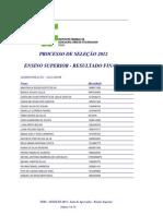 Lista Aprovados Superior 2012