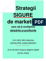3 Strategii Sigure de Marketing