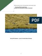 GWFG Spring 2010 Fieldwork Report