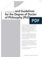 Phd Statute Guidelines