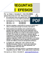 PREGUNTAS DE EFESIOS