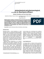 Morphological, Phytochemical and Pharmacological, Studies on via Diffusa L.