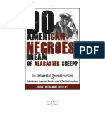 Do American Negroes Dream of Alabaster Sheep