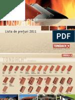 Lista de Preturi TONDACH 2011