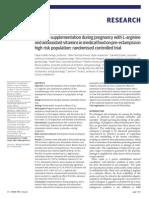 Effect of Supplementation During Pregnancy With L-Arginine
