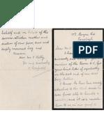 Bobbie Bonfield-St Kevins GAA Club Letter 1923