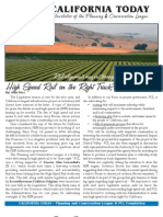 September 2011 California Today, PLanning and Conservation League Newsletter