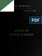 ديوان الصحابي حسان بن ثابت الأنصاري, طبعة 1910