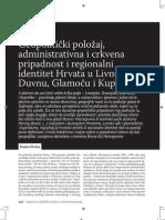 Periša 2011 (Geopolitički položaj, administrativna i crkvena pripadnost i regionalni identitet Hrvata u Livnu, Duvnu, Glamoču i Kupresu)