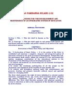 BATAS PAMBANSA 232