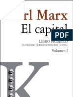 Karl Marx - El Capital - Vol. I