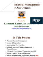 Personal Finance Management Presentation - Final by Shri Sharath Kumar