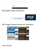 Edit Template Dengan Dream Weaver Template