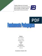 Fundamento pedagogico