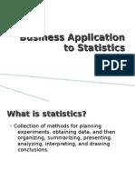 Business Application of Statistics