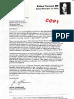 Kelvin Thomson Letter to Peter Garrett Dec 2011