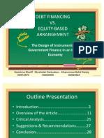 20111223 PPT Debt vs Equity