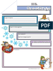 Snow Letter Template