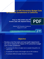 Effects of State HIV Prevention Budget Cuts in California