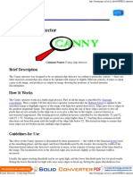 Feature Detectors - Canny Edge Detector