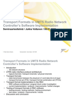 Transport Formats in UMTS