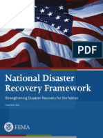 FEMA National Disaster Recovery Framework, 2011