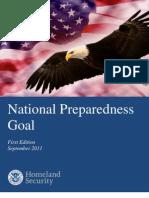 DHS National Preparedness Goal, September 2011
