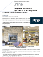 McDonald's to Spend $1billion on Fireplaces and Flat-screen TVs in Its Canadian Restaurants _ Mail Online