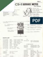 Boss CS-2 Service Notes (A)