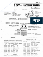 Boss SP-1 Service Notes