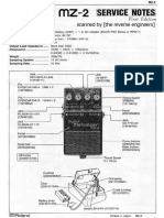 Boss MZ-2 Service Notes