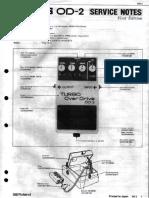 Boss OD-2 Service Notes