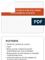 Design Patterns for Weather Monitoring System