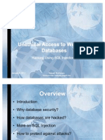 Unethical Access to Website's Databases-Hacking Using Sql Injection