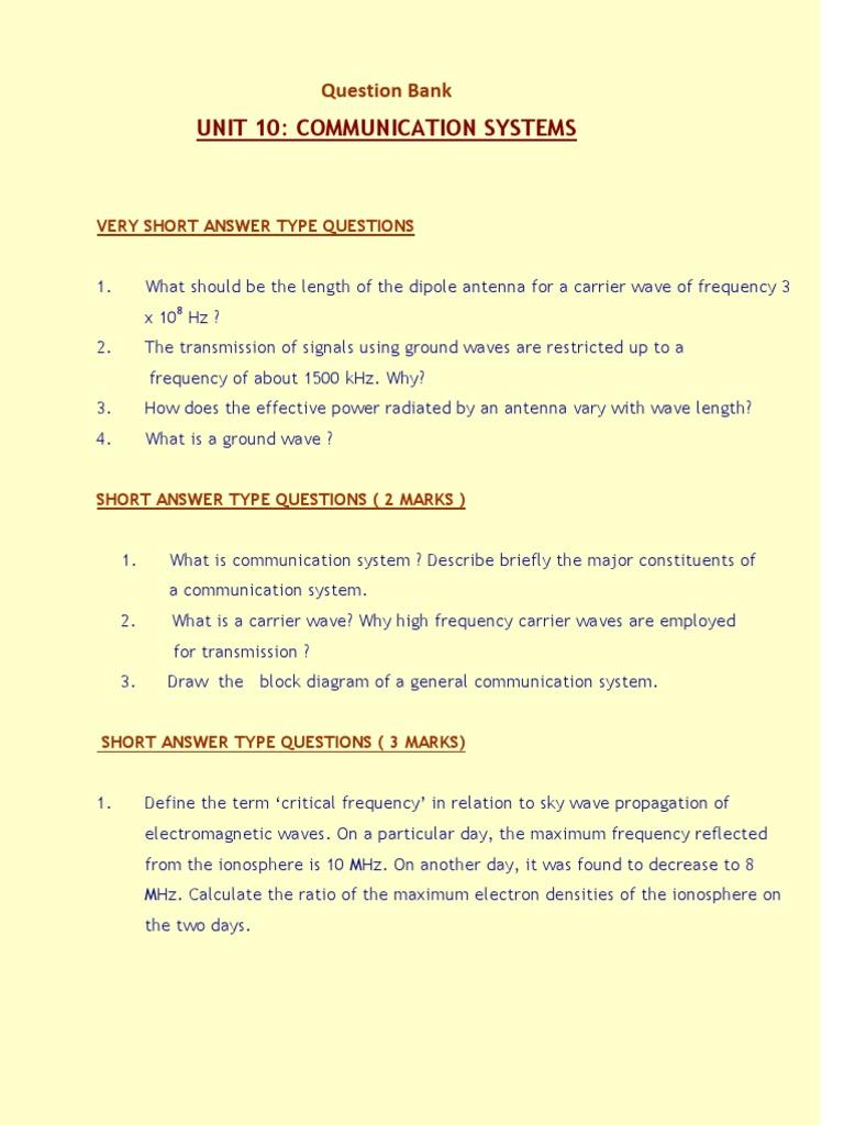 Communication Systems | Radio Propagation | Transmitter