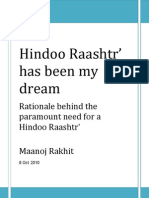 Hindoo Raashtr is my dream
