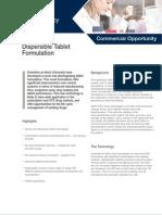 Dispersible Tablet Formulation