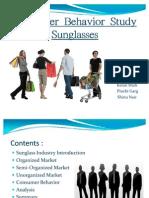 Consumer Behavior Study Sunglasses