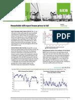 SEB's Housing Price Indicator up but remains negative