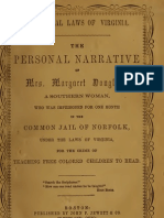 Margaret Crittenden Douglass--The Personal Narrative of Mrs. Margaret Douglass, A Southern Woman (1854)