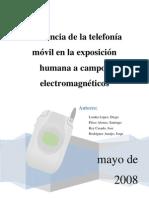 Influencia de la telefonía móvil en la exposición humana a campos electromagnéticos