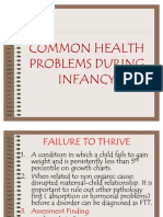 Common Health Problems During Infancy