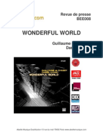 "Revue de presse de l'album ""Wonderful world"" de Guillaume de Chassy et Daniel Yvinec (BEE008)"