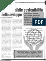 Insostenibile sostenibilità dello sviluppo